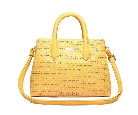 Pepper - Yellow cutwork small shopper - Filliae store