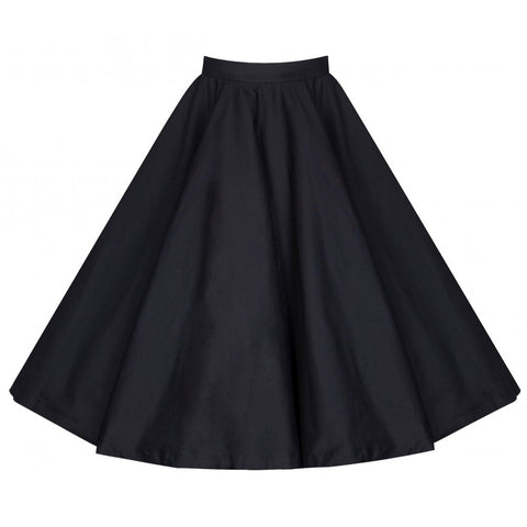 Peggy - Fifties Style Black Rock 'n' Roll Full Circle Skirt - Filliae store