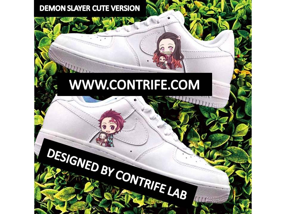 Anime Characters Imprinted Air Force 1