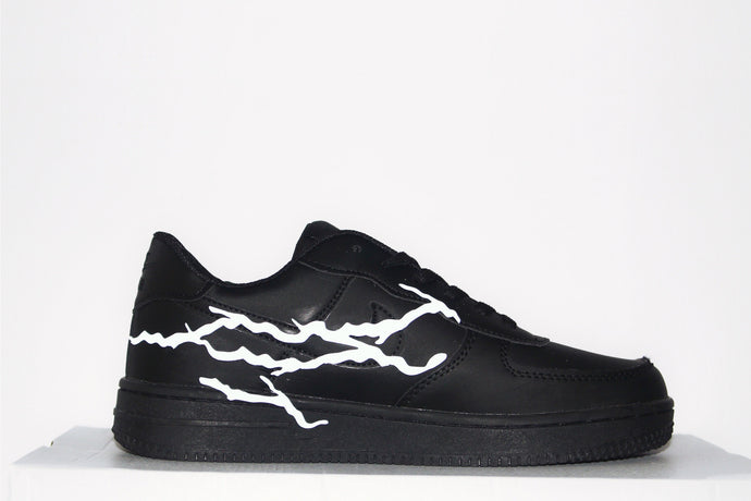 Lightning 3M Reflective Air Force 1 (Black)