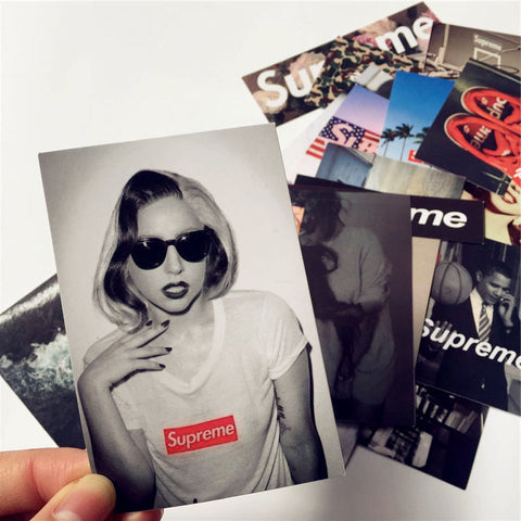 50 Pieces Supreme Stickers - Eleven Gift
