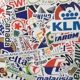 52 Pieces Airlines Logo Stickers For Traveler