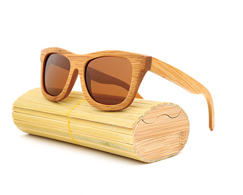 Baverly - Light Bamboo Sunglasses with Brown Tea Polarized Lens
