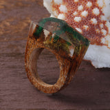 Amazon - Handcrafted Wood Resin Rings - Eleven Gift