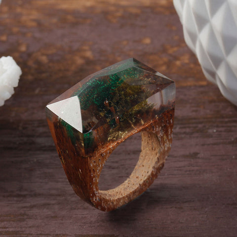 Amazon - Handcrafted Wood Resin Rings