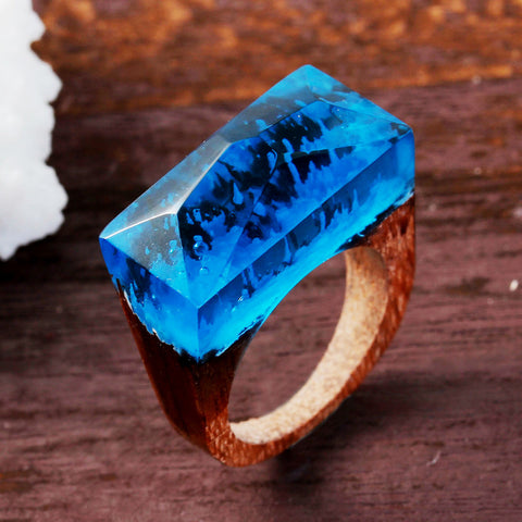 Antarctica - Handcrafted Wood Resin Rings