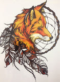 Beautiful Fox Sticker Tattoo - Eleven Gift
