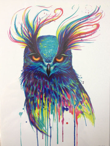 Beautiful Owl Sticker Tattoo - Eleven Gift