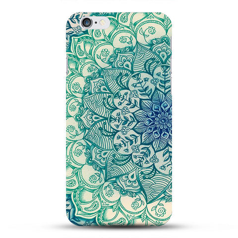 Blue Henna Flower iPhone Case