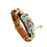 Butterfly Paint Leather Bracelet - Eleven Gift