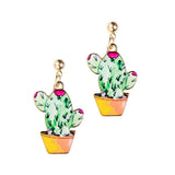 Cactus Earrings - Green - Eleven Gift