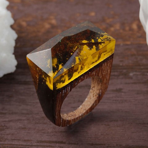 Conness - Handcrafted Wood Resin Rings - Eleven Gift