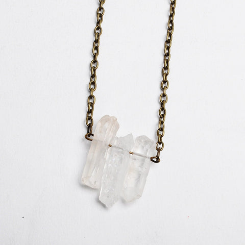 Crystal Raw Quartz Necklace - Eleven Gift