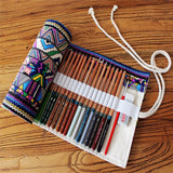 Cute Abstract Roll Up Pen Case - Eleven Gift