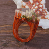 Daintree - Handcrafted Wood Resin Rings - Eleven Gift