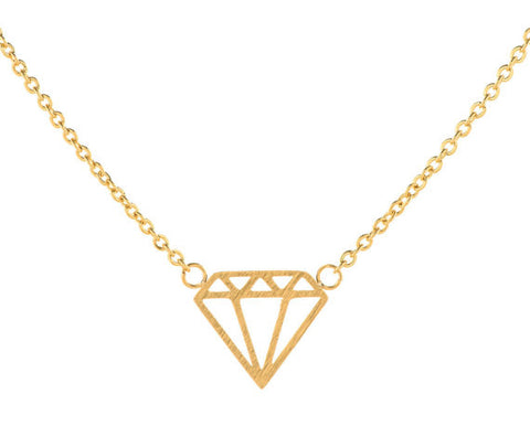 Diamond Shape Charm Necklace - Eleven Gift
