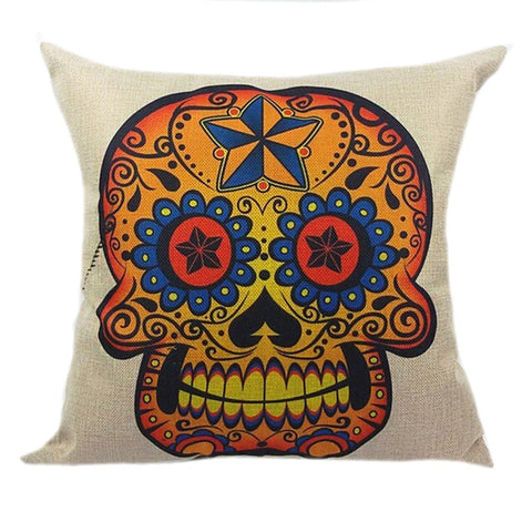 Diamond Star Sugar Skull Pillow Case