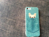 Dog in The Pocket Blue iPhone Case