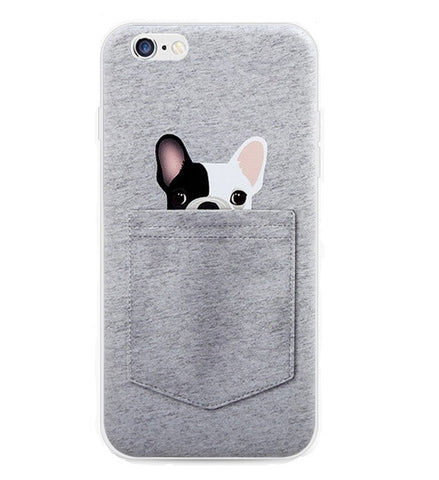 Dog in The Pocket Grey iPhone Case - Eleven Gift