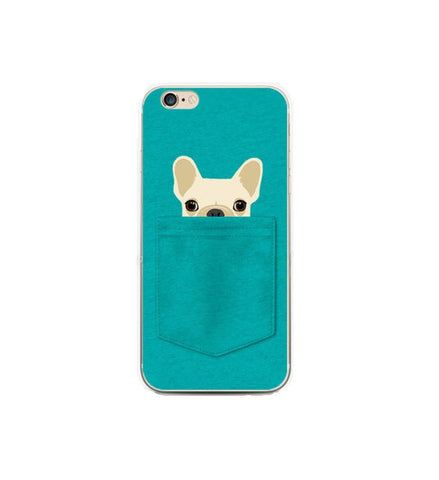 Dog in The Pocket Blue iPhone Case - Eleven Gift