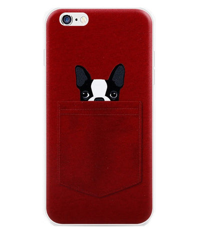 Dog in The Pocket Red iPhone Case - Eleven Gift