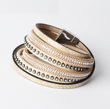 Double Layer Leather Bracelet - Cream - Eleven Gift