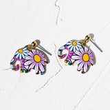 Flower Elephant Earrings - Eleven Gift