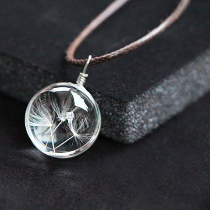 Flower Terrarium Necklace - Eleven Gift