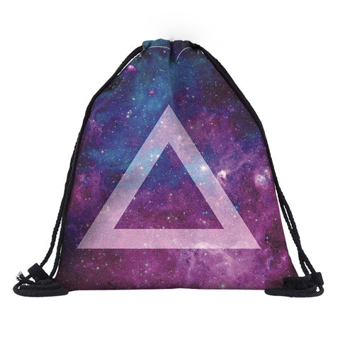 Galaxy Triangle Drawstring Bag - Eleven Gift