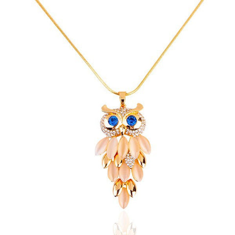 Golden Owl Necklace - Eleven Gift