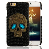 Handmade Black Crystal Skull Phone Case - iPhone & Galaxy - Eleven Gift