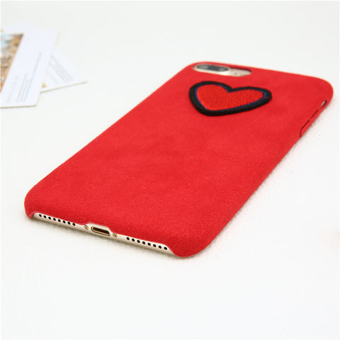 Heart Fuzzy iPhone Case - Eleven Gift