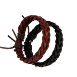 Leather Wrap Bracelet - Red & Black - Eleven Gift