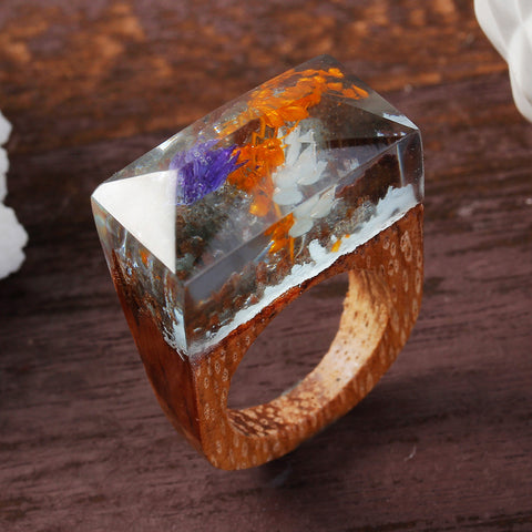 Honshu - Handcrafted Wood Resin Rings - Eleven Gift