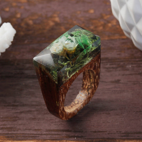 Kinabalu - Handcrafted Wood Resin Rings