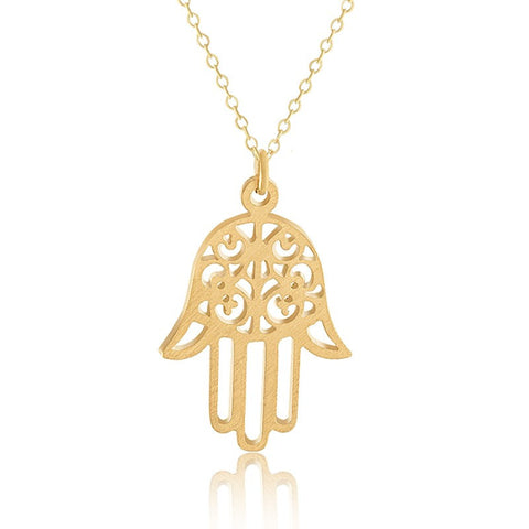 Luck Hamsa Hand Charm Necklace - Eleven Gift