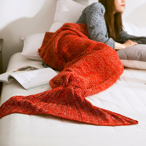 Mermaid Blanket - Red - Eleven Gift