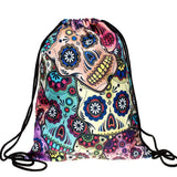 Sugar Skull Drawstring Bag - Eleven Gift