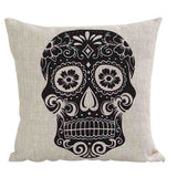 Sugar Skull Cushion Cover - Eleven Gift