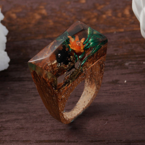 Montecristo - Handcrafted Wood Resin Rings - Eleven Gift