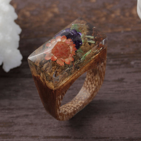 Monteverde  - Handcrafted Wood Resin Rings