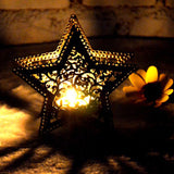 Moroccan Inspired Candle Holder - Star Shaped - Eleven Gift