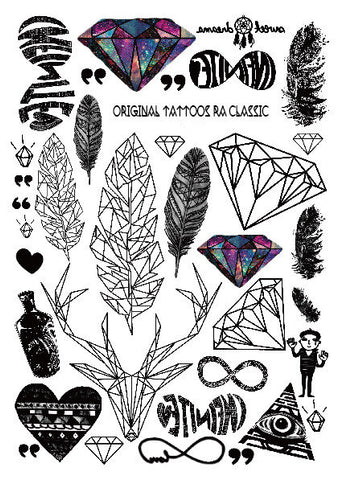 Multi Design Sticker Tattoo No -5 - Eleven Gift