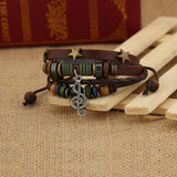 Music Note Leather Bracelet