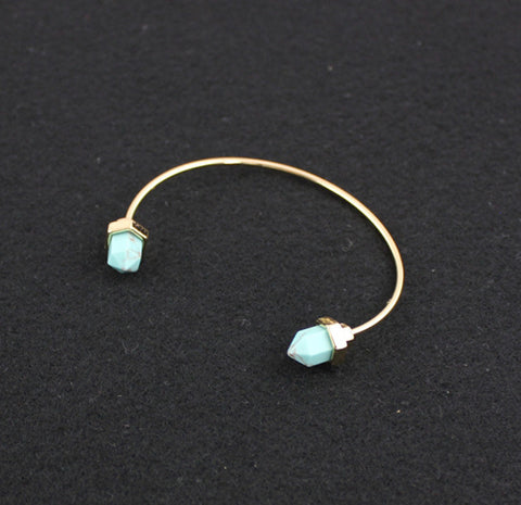 Natural Turquoise Gold Plated Bracelet