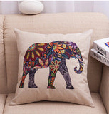 Beautiful Elephant Arts Cushion Cover - Eleven Gift