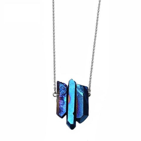 Galaxy Quartz Stone Necklace - Eleven Gift