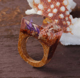 Redwood - Handcrafted Wood Resin Rings - Eleven Gift