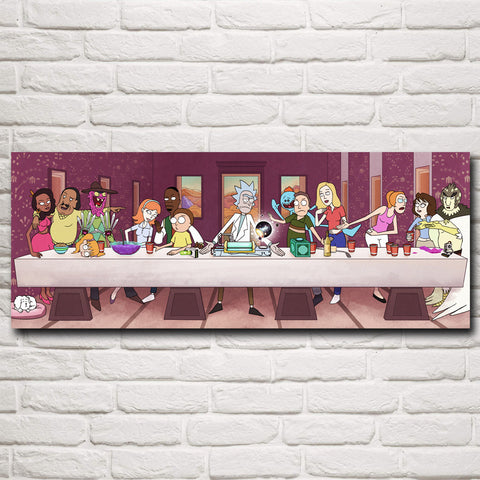 Rick and Morty Last Supper Poster - Eleven Gift
