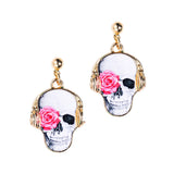 Rose Skull Earrings - Eleven Gift